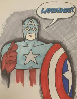 Captain America, censor. by Ruzho