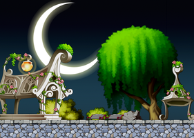 Night time Park Custom Background by EightQueens
