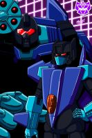 Gift - Smokescreen and Dreadwing by SeanRM