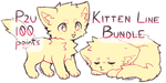 P2U Kitten Lineart Bundle by STARBITT