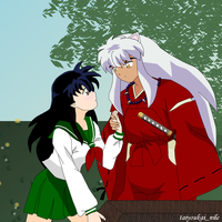 InuYasha and Kagome- A Moment by blondishnet