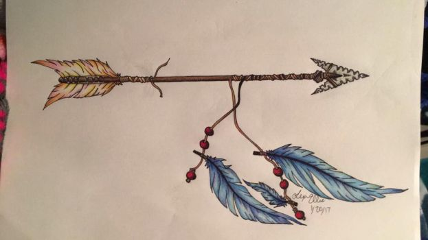 Arrow and feathers by Babybee-Babybreeze