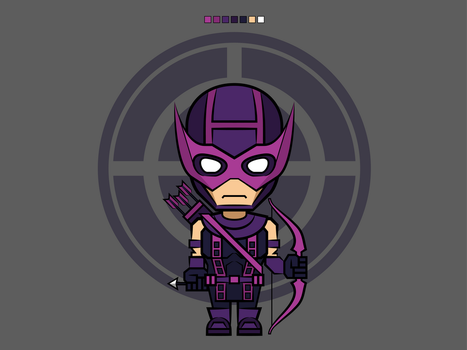 #6 Hawkeye | Avengers Vector by rousanilmy