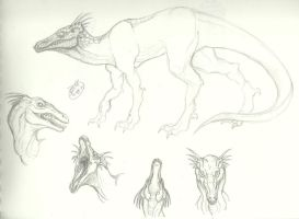 Another Alien Dinosaur Creature Thing by RoomsInTheWalls