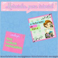 ~Materiales para Tutorial by:Me by LucesitaEditions