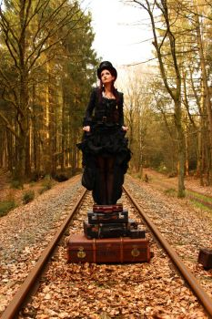 Stock - Steampunk  suitcases music box style 2 by S-T-A-R-gazer