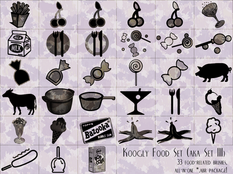 koogly food set -aka set 3- by gr8koogly