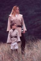 Jedi Knight and youngling by AnariaZar-Rel