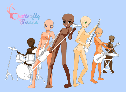 Base - Rock Band by Butterfly-Bases