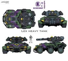 LexCORP 'heavy assault' tank by Chuckdee