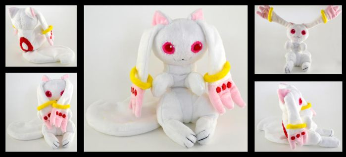 Kyubey Plush Commission by CleverCrafts