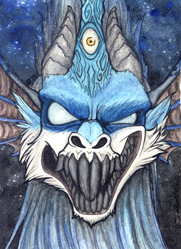 ACEO/ATC: Are You Scared? by Samantha-dragon