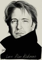 Alan Rickman by LiaBatman
