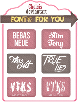 Fonts by Choisis