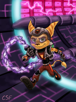 Ratchet And Clank - Obani Draco by CartoonSilverFox