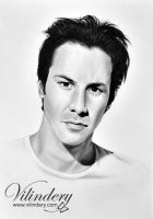 Keanu Reeves - pencil drawing by vilindery