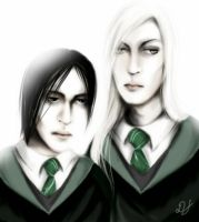 young Snape and Lucius by Deriana
