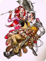 Steampunk couple by NienorGreenfield