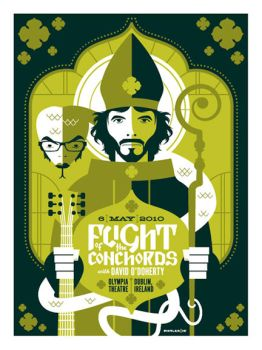 flight of the conchords poster by strongstuff