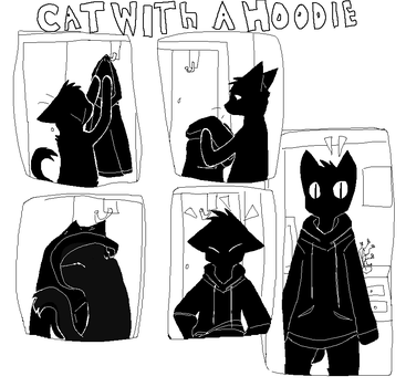 Cat With A Hoodie by patchy-teh-awesome1