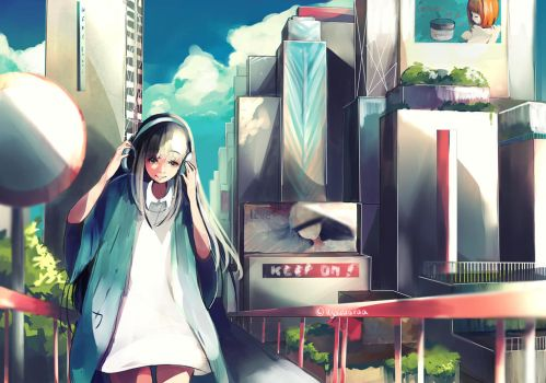 City and Music by KyouKaraa