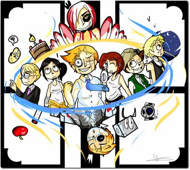 Portal 2 -Aperture science by Cheapcookie