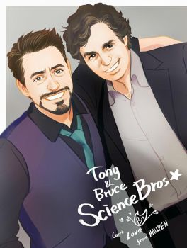 Hellyeah Science Bros~ by Hallpen