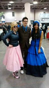 The Doctor with his two lovely girls by his side! by LastDayCosplay