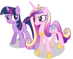 Sceptical Cadance and Twilight (Nml Cadance Ver) by 90Sigma