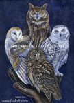 Totem Owls by Foxfeather248
