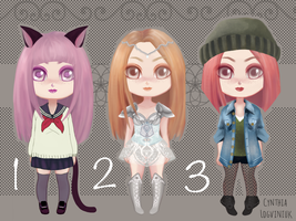 Chibi dolls Adopatbles Open Collection 1 by cynthilog