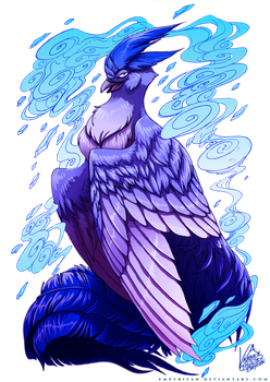 PKM: Articuno Used Icy Wind by Empyrisan