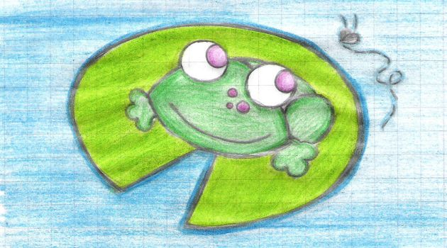 Happy Froggie :D by whitecats