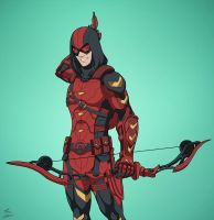 Red Arrow v.2 (Earth-27) commission by phil-cho