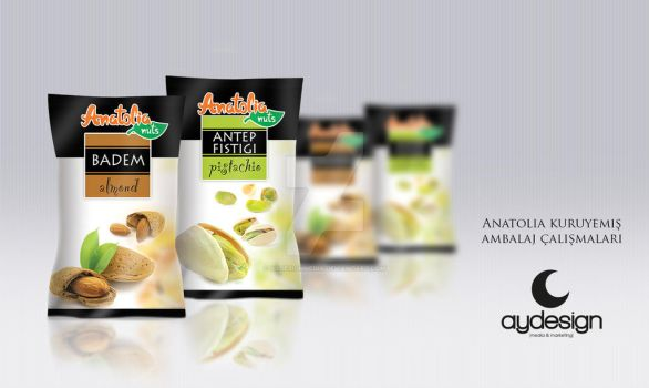 Anatolia Nuts Packaging Designs by aydesignmedia