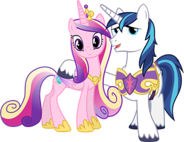 Princess Cadance and Shining Armour by 90Sigma