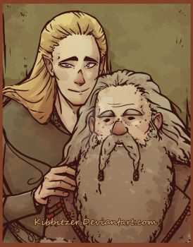 Legolas and old Gimli-asdfghjklqwert by Kibbitzer