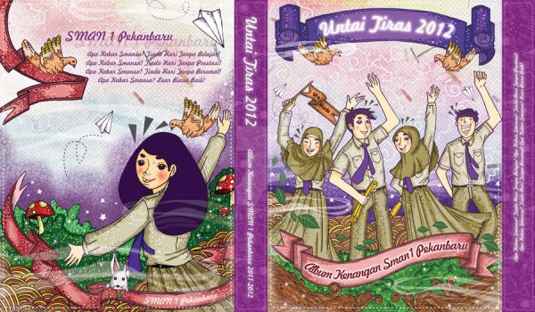 SMAN 1 Pekanbaru Year Book Cover 2012 by Eijiel