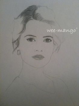 Fancast: Carla Gugino as Snow White (WIP) by wee-mango
