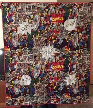 Comic Book Quilt by lasarahjoy