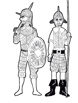 Rojopaisian Soldiers by TheReptilianGeneral