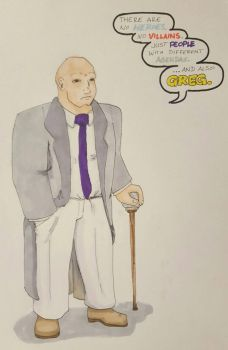 Legion of Doom nametag series- Kingpin by Ruzho