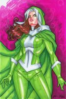 Rogue- Hand Colored by JamieFayX