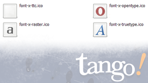 Tango Font Icons by 8666