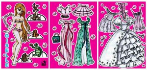 Giselle paper doll by Mauau