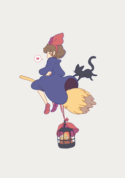 Kiki Delivers Calcifer by xephia