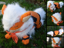 Commission: Sleepy time Arcanine by MouseAlchemist