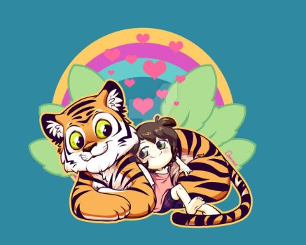 rainbows and tigers by Danime-chan