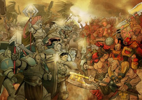 Age of Sigmar Battle by HeilyAens