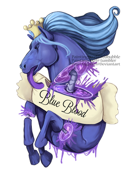 Blue blood With speedpaint by paintingpixel